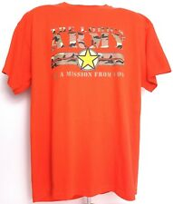 Christian Faith Mens Size XL The Lord's ARMY on a mission from God Orange