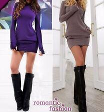 ♥Größe 34-42 Longshirt, Minikleid, Oberteil, Top in Lila oder Braun+NEU+SOFORT♥