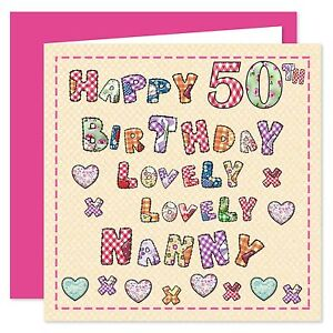 Nanny Happy Birthday Card - Age Range 50 - 80 Years - Lovely Lovely You Design
