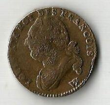 Rarissime 12 Deniers 1793,An 5 W pointé pour Arras en métal de cloche.