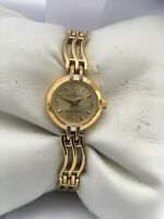 "Anne Klein Women""s  Quartz  Gold Plated  30 MT water resistant bracelet watch"