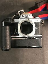 Nikon FE  Camera with Nikon Straps With Winder In Gd Condition Winder Missing Pk
