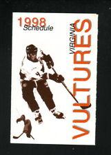Virginia Vultures--1998 Pocket Schedule--Target--MLRH