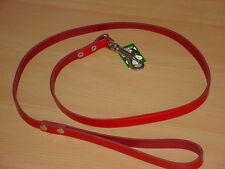 Hundeleine aus echtem Leder 1,25m / 24mm, rot