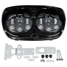 6500K Dual LED Headlight 5.75'' Projector Lamp Fit For Harley Road Glide