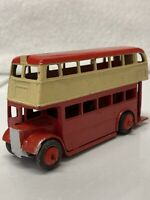 Dinky Toys Double Decker Bus Red Repainted Made In England Meccano