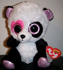 """Ty Beanie Boos - MANDY the 6"""" Valentine Panda Bear - MINT with MINT TAGS"""