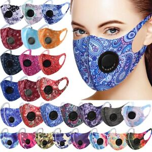 Face Mask Cover Mens Womens Washable Reusable Paisley Pattern Mouth Cover w/Vent