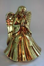 "Vintage Gold Tone Angel Plays ""Hark The Herald Angel"" ~Japan"