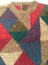 Boston Traders -- Multicolore LINO & COTONE MEN'S Maglione-Pullover-Taglia S