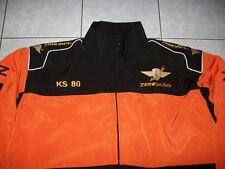 NEU ZÜNDAPP KS 80 Oldtimer Fan-Jacke schwarz orange veste jacket jakka jas giacc