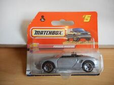 Matchbox Porsche Boxster in Grey on Blister