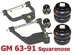 AIRARM-GM6387-2 1963-1987 Chevy C10 Upper/Lower Control Arms/Bags/Mount