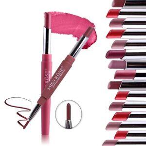 Double Head Lipstick Lip Liner Waterproof Pencil / Pen Matte Long Lasting Makeup