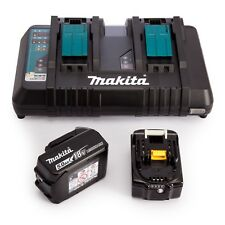 Makita DC18RD Dual port Rapid Battery Charger BL1850B 5Ah batteries BL1850B2DC2