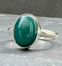 Achat Ring massiv Grün oval Gr. 62 * 19,7 mm  Statement 925 Sterling Silber Neu