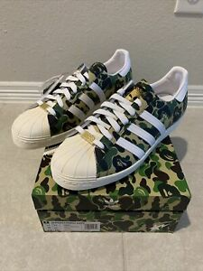 DS Adidas BAPE Superstar ABC Camp Green GZ8981 Size 13
