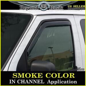 1992-2014 Ford E-SERIES WAGON E150 E250 E350 IN CHANNEL Smoke Door Vent Visors