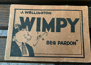 "J. WELLINGTON WIMPY IN ""BEG PARDON"" Racy Sexy Graphic Comic Book Booklet 8 Pages"