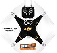 DJI Phantom 4 Pro Carbon Fiber Skin Wrap Decal Sticker Battery Body Controller