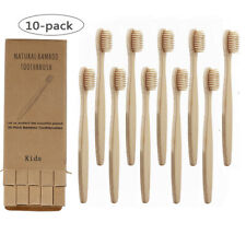 10x Bamboo Kids Children Toothbrush Natural Soft Bristles Oral Care Eco-friendly