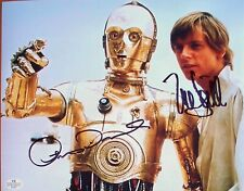 ANTHONY DANIELS & MARK HAMILL: STAR WARS. C-3PO & Luke Skywalker. Signed photo.