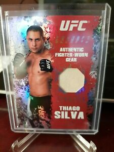 2010 TOPPS UFC MAIN EVEN THIAGO SILVA White RELIC CARD