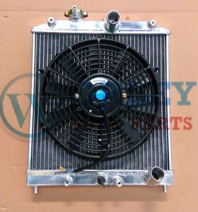 2 cores radiator + one fan for Honda CIVIC EG EK B16 B18 D15 D16 1992-2000 32mm
