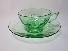Heisey Yeoman Cup & Saucer Moongleam Green