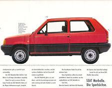Seat - Marbella -  Prospekt - 02/87 - Deutsch - nl-Versandhandel