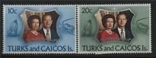 Turks & Caicos 1972 Silver Wedding SG372/3 MNH