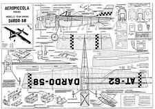 AEROPICCOLA DARDO 58 linea di controllo piano TEAM RACER