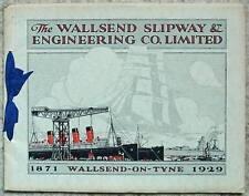 WALLSEND SLIPWAY & ENGINEERING Co Promotional Brochure 1929 Mauretania HMS