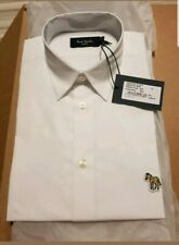 Paul Smith Men's Short-Sleeve Shirt With Zebra Logo. White. Size S. New with tag