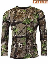Game Trek Camouflage Long Sleeve T-Shirt Camo Hunting, Shooting & Fishing New in