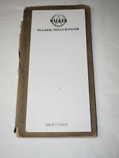 Scarce Walker,Texas Ranger Nick Corea Script Book Mark