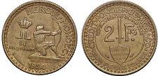 MONACO 2 FRANCS 1924 LOUIS II