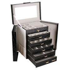 Large Jewellery Box Girls Rings Organisers Necklaces Storage Display Mirror Case