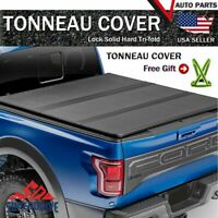 Fits 2004-2020 Ford F-150 Lock & Tri-Fold Hard Tonneau Cover 5.5ft Short Bed