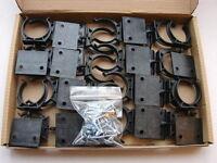 20 Hafele Kitchen Plinth/Kick Board Clips and Bracket Set + screws for 32mm legs