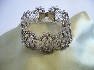 filigranes antik armband 835 silber.18,5cm.lang