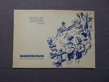 Wanderkatalog für den Bezirk Erfurt, DDR 1954, Thüringen, Eisenach, Gotha etc.