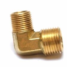 "1/2 to 3/8"" Male NPT Brass Reducer Elbow Fitting, Fuel, Air, Water, FASPARTS"