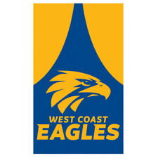 Official AFL West Coast Eagles Supporters Wall Cape Banner Flag 90 X 150 Cm