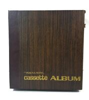 NEW Realistic Cassette Tape Holder Case Album Brown Holds 24 Tapes w/o Cases