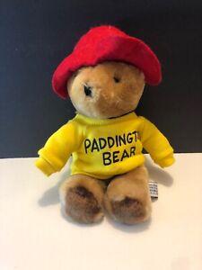 "Eden Toys PADDINGTON BEAR 9"" Please Look After This Bear Thank You-Yellow Shirt"