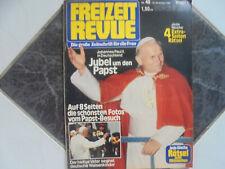 Freizeit Revue 48/1980 TB:Papst Johannes Paul II in Deutschland!/Abba/S.McQueen!