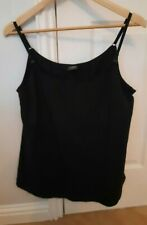 Women's Mothercare New Maternity Nursing Vest With Inner Support Black Size 18