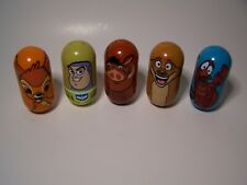 Lot of 5 Walt Disney Parks  Weeble Wobble Mighty Beanz:: Sebastian, Buzz, Bambi