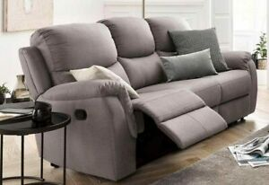 3-Sitzer Sofa Relaxfunktion Federkern Polstersofa Luxus-Microfaser Couch